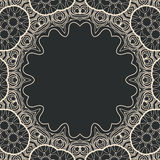 Ornamental stylized round frame vector, a lot of Royalty Free Stock Photo