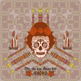 Ornamental sugar skull girl Stock Photography