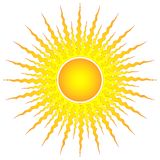Ornamental sun Royalty Free Stock Photography