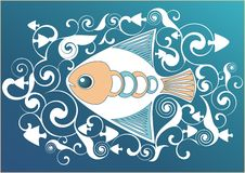 Ornamental swimming fish Stock Images