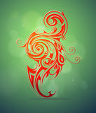 Ornamental swirls design Stock Images
