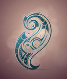 Ornamental swirls design Stock Photos
