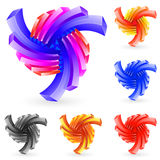 Ornamental symbol. Abstract design element on white background Royalty Free Stock Images