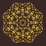 Ornamental Symmetric Patter In Ottoman Style. Print For Textile Royalty Free Stock Image