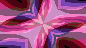 Ornamental symmetrical soft color moving cross shape pattern animation background seamless loop New quality retro. Ornamental geometric caleidoscope star moving stock footage
