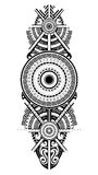 Ornamental tattoo in Maori style Stock Image