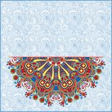 Ornamental template with circle floral background Royalty Free Stock Images