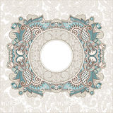 Ornamental template with floral background Stock Image