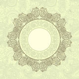 Ornamental template with floral background Stock Images