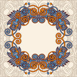 Ornamental template with floral background Royalty Free Stock Images