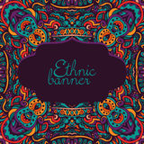 Ornamental Template Vector Poster Stock Image