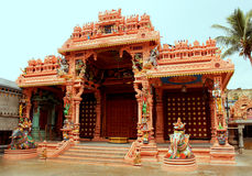 Ornamental temple ceremony hall Royalty Free Stock Images