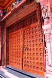 Ornamental temple door Royalty Free Stock Photo