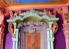 Ornamental temple door Royalty Free Stock Image