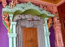 Ornamental temple door Royalty Free Stock Photo