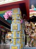 Ornamental temple pillar Royalty Free Stock Photography