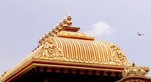 Ornamental temple roof Royalty Free Stock Image