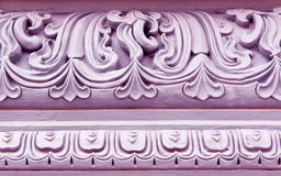 Ornamental temple wall Royalty Free Stock Images