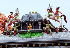 Ornamental temple wall Stock Photography