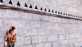 Ornamental temple wall Royalty Free Stock Photography