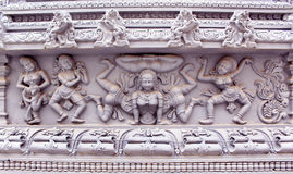 Ornamental temple wall statues Royalty Free Stock Photography