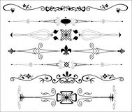 Ornamental Text Dividers Stock Photo