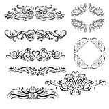 Ornamental text dividers and borders. Elegant and ornamental artistic frames and text dividers Stock Images