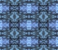 Ornamental three-dimensional seamless pattern - blue vector illustration