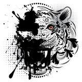 Ornamental Tiger Portrait Royalty Free Stock Photos