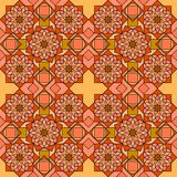 Ornamental Tiles Orange Stock Image