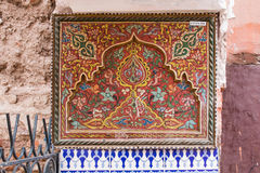 Ornamental traditional painting, Morocco Royalty Free Stock Photo