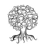 Ornamental tree with roots for your design. This is file of EPS8 format royalty free illustration