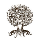 Ornamental tree with roots for your design Stock Photo