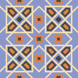 Ornamental triangular and hexagonal morocco seamless pattern. Royalty Free Stock Photos
