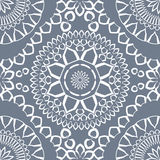 Ornamental triangular and round morocco seamless pattern. Stock Image