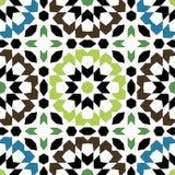 Ornamental triangular and round morocco seamless pattern. Stock Photo