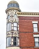 Ornamental Turret, Downtown Janesville, Wisconsin royalty free stock images