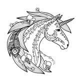 Ornamental Unicorn Stock Photography