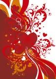 Ornamental valentine background Stock Photography
