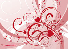 Ornamental valentine background Stock Photo