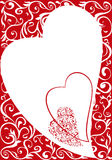 Ornamental valentine background Royalty Free Stock Photography