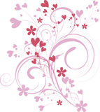 Ornamental valentine background Royalty Free Stock Image