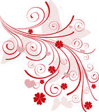 Ornamental valentine background Royalty Free Stock Images