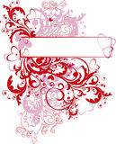 Ornamental valentine's day background Stock Image