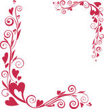 Ornamental valentine's day frame. With heart-shapes royalty free illustration