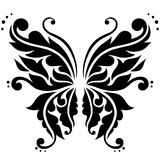 Ornamental vector butterfly Royalty Free Stock Photos
