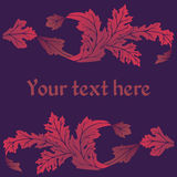 Ornamental vector card Royalty Free Stock Images