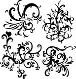 Ornamental vector design eleme. Illustrations ornamental vector design elements Stock Photos