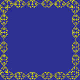 Ornamental vector frame. Blue  background Royalty Free Stock Images