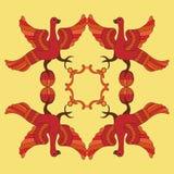 Ornamental vector illustration of mythological birds. Royalty Free Stock Image